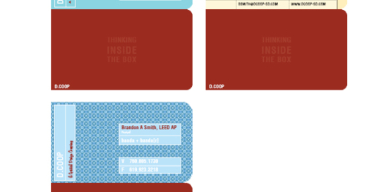Commercial Interior Designer New Business Card Design Options