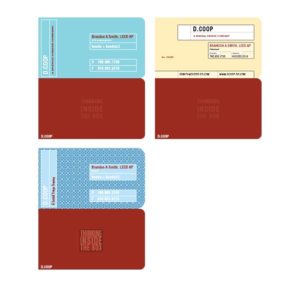Commercial Interior Designer New Business Card Design Options