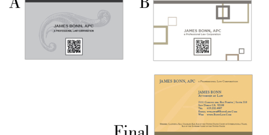 Attorney New Business Card Design Options