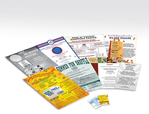 Retail Flyers and Periodical Sticker Ads