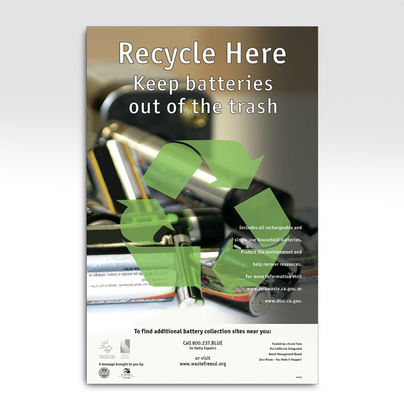 City of San Diego Battery Recycle Campaign Poster
