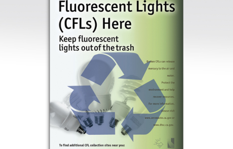 San Diego CFL Lightbulb Recycle Poster