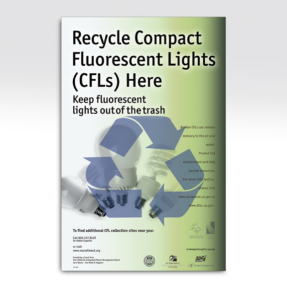 City of San Diego CFL Bulb Recycle Campaign Poster