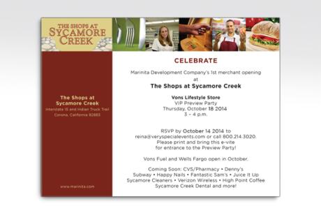 Sycamore Creek Shopping Center Digital Invite