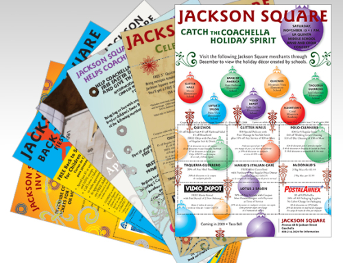 Retail Shopping Center Monthly Coupon Flyers