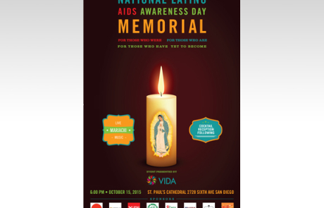 VIDA National Latino AIDS Awareness Day Memorial Event Poster