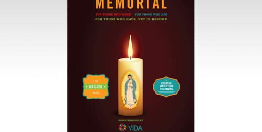VIDA National Latino AIDS Awareness Day Memorial Event Poster